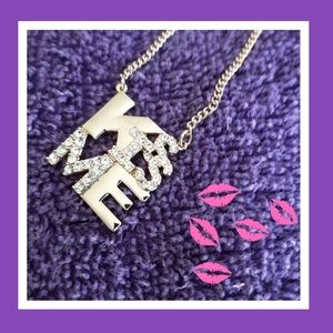 "NWT ABS by Allen Schwartz ""KISS ME"" Necklace"